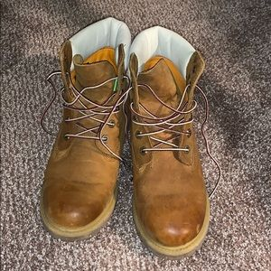 Timberland boots with white trim